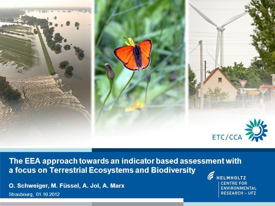 1 The EEA approach towards an indicator based assessment with a focus on Terrestrial Ecosystems and Biodiversity O.