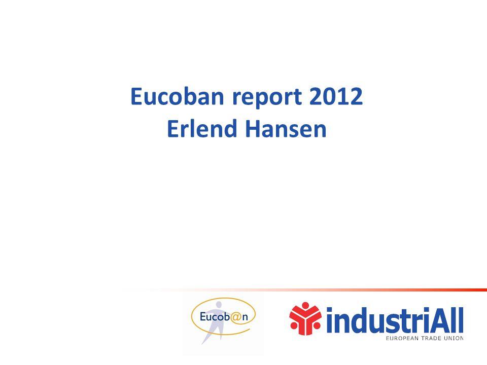 Eucoban report 2012 Erlend Hansen