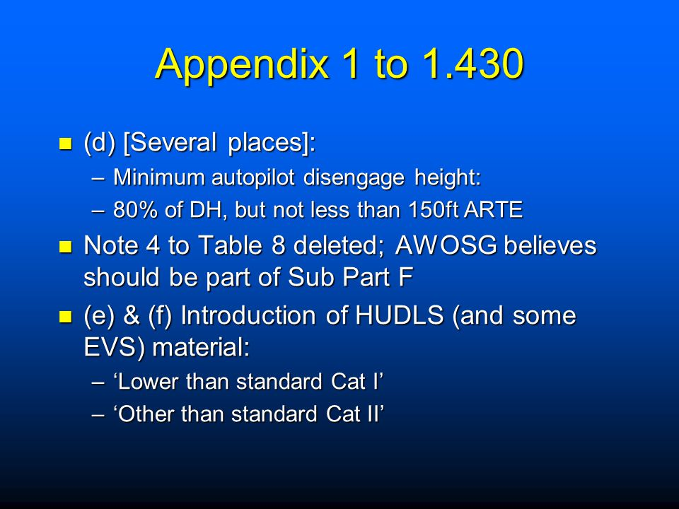 Appendix 1 to 1.430 – Para (c)(2)(ii) CDFAs with a nominal vertical profile, up to and including 4.5  for Category A and B aeroplanes, or 3.77  for