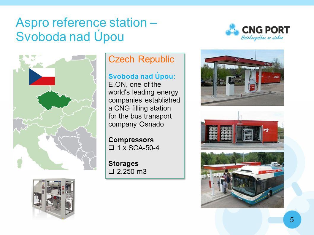 Visiting the reference station 6 CNG Port has invited  1 main shareholder of a Hungarian bus company in Tatabánya city (total 39 buses) – he wants to switch to CNG soon 3-6 buses  3 people from Zalaegerszeg city where the biogas-CNG is a success story and they want to extend it to the whole bus transportation of the city.