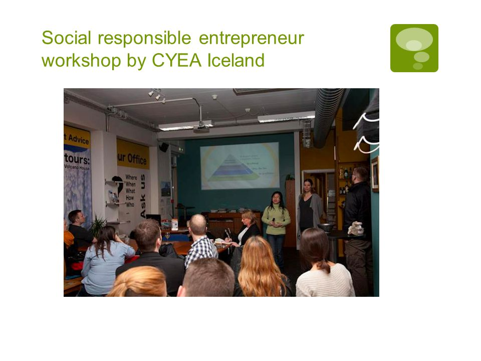 Social responsible entrepreneur workshop by CYEA Iceland