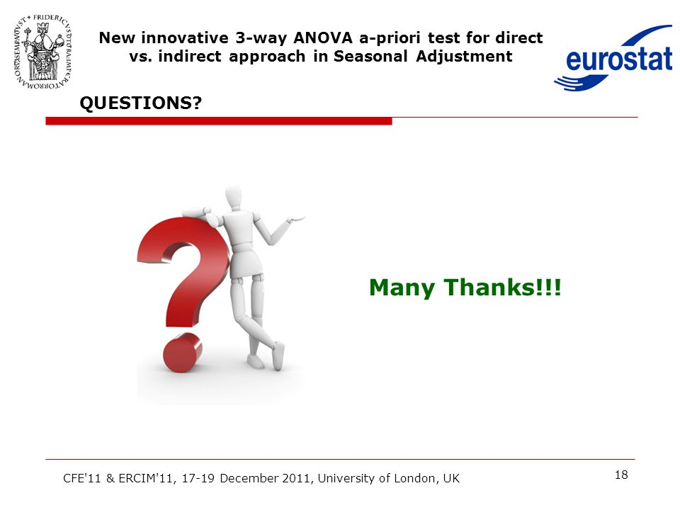 18 CFE'11 & ERCIM'11, 17-19 December 2011, University of London, UK New innovative 3-way ANOVA a-priori test for direct vs. indirect approach in Seaso