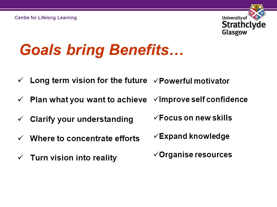 Centre for Lifelong Learning Five Golden Rules