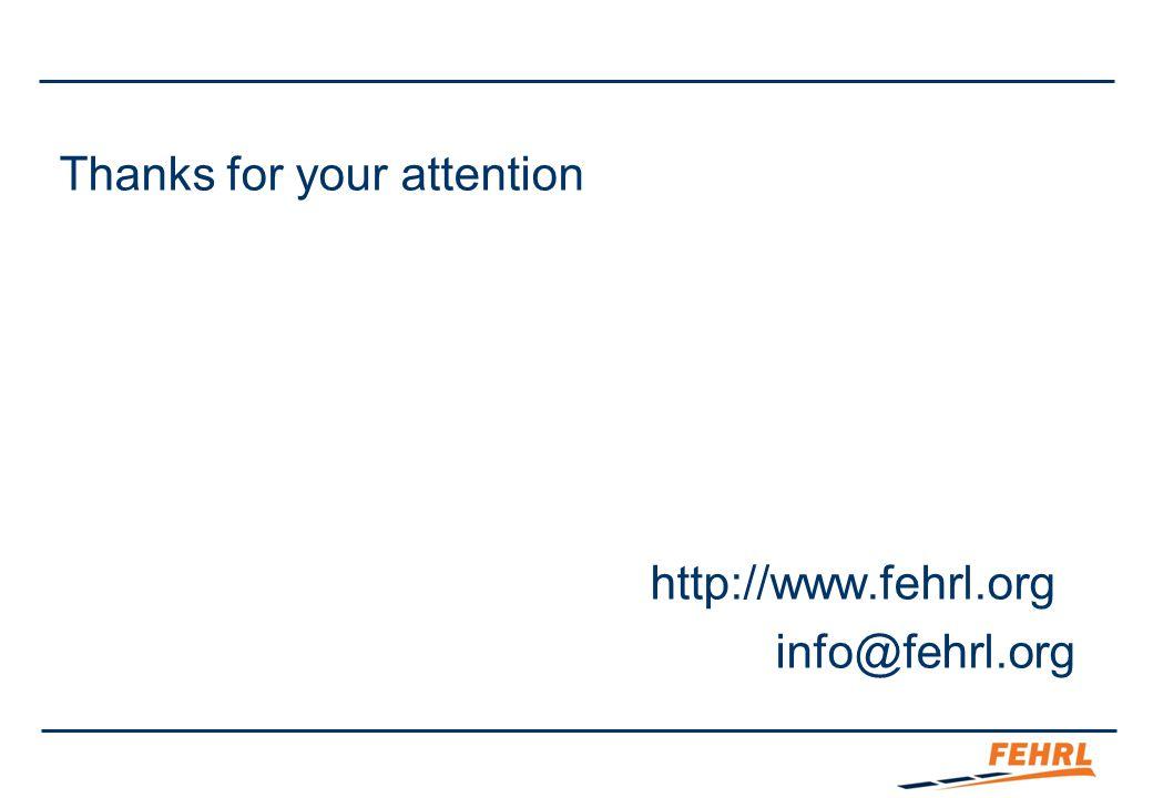Thanks for your attention http://www.fehrl.org info@fehrl.org