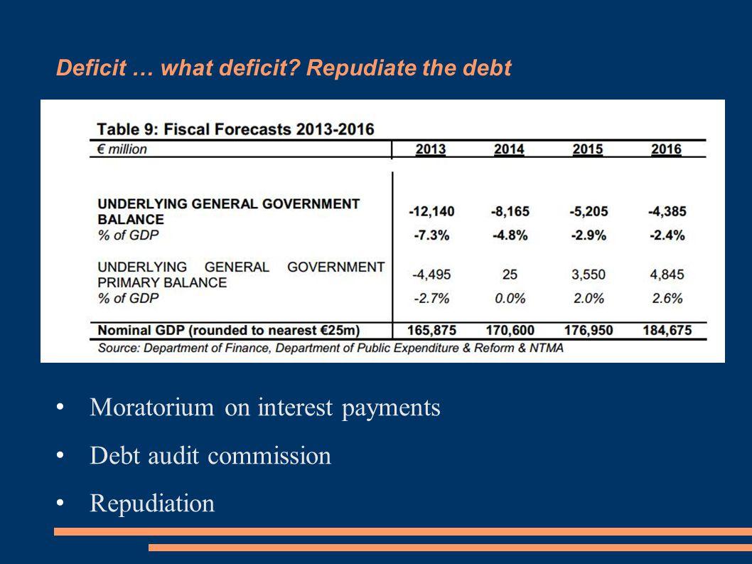 Deficit … what deficit.