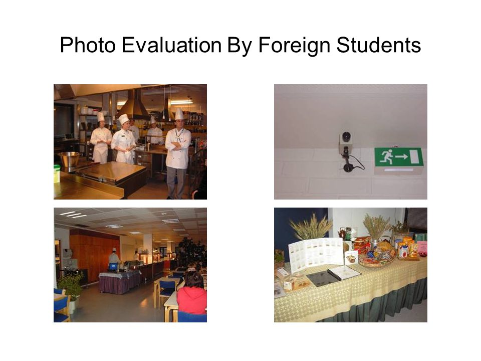 Photo Evaluation By Foreign Students