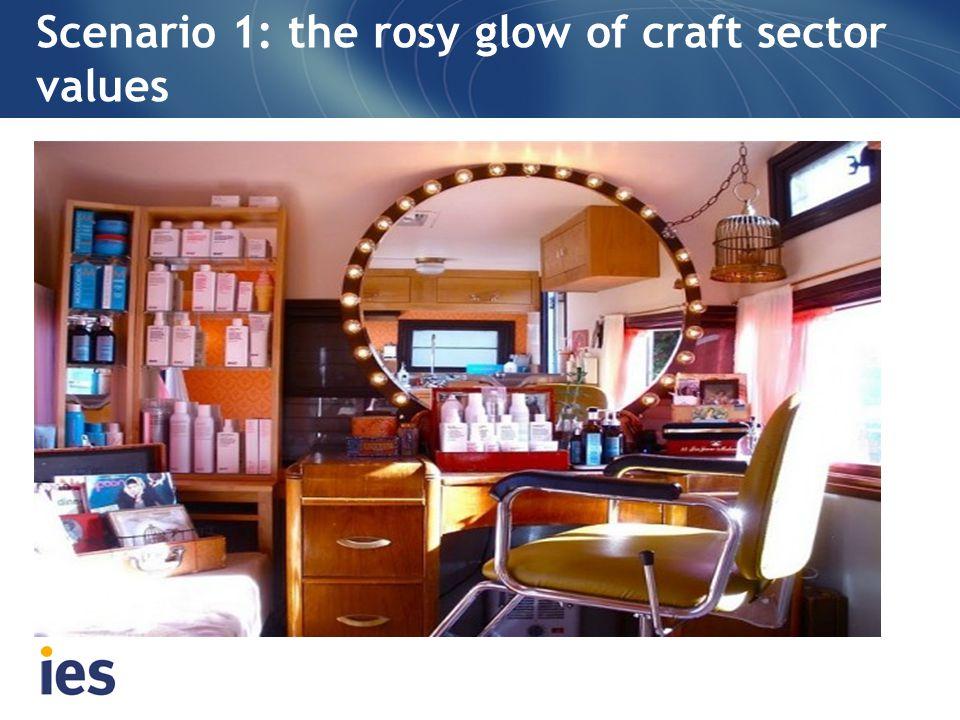 Scenario 1: the rosy glow of craft sector values