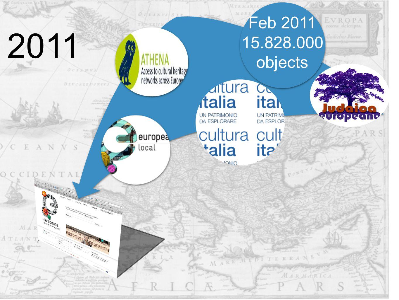 Feb 2011 15.828.000 objects 2011
