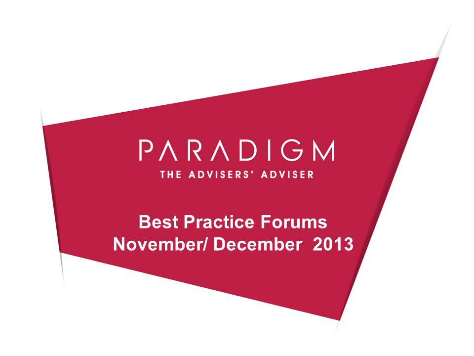 Best Practice Forums November/ December 2013