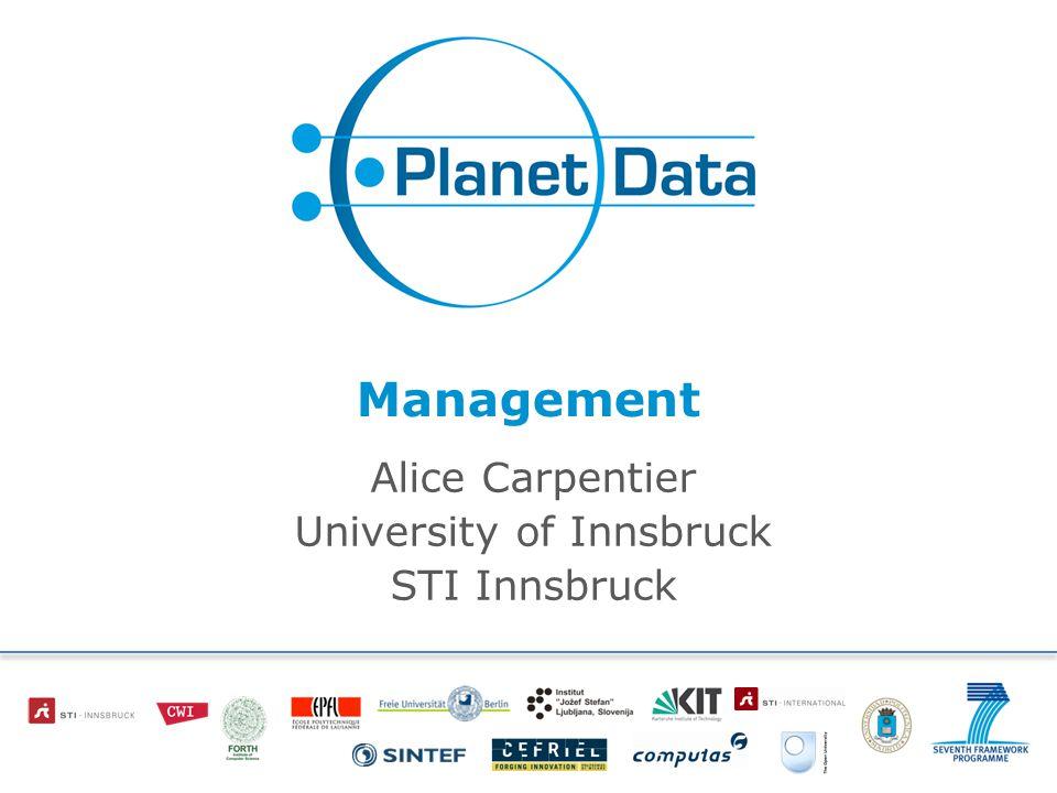 Management Alice Carpentier University of Innsbruck STI Innsbruck