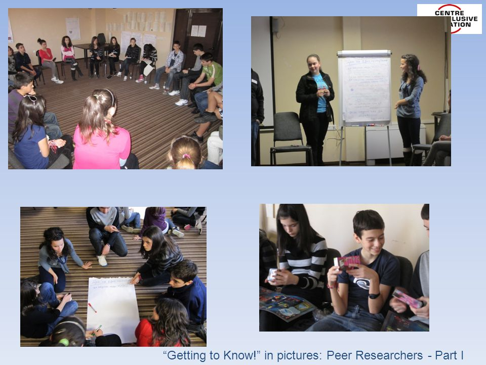 Getting to Know! in pictures: Peer Researchers - Part I