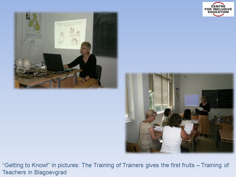 Getting to Know! in pictures: The Training of Trainers gives the first fruits – Training of Teachers in Blagoevgrad
