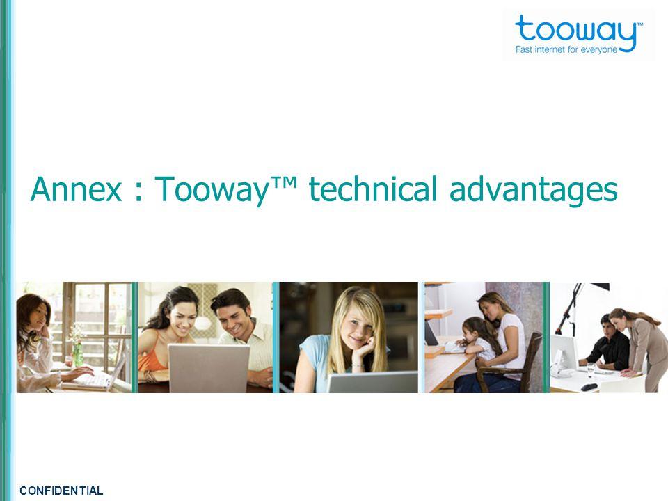 CONFIDENTIAL Annex : Tooway™ technical advantages
