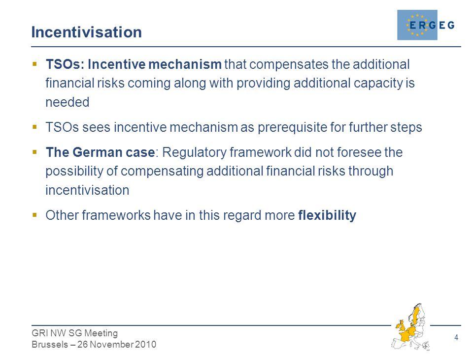 5 GRI NW SG Meeting Brussels – 26 November 2010  The legal/regulatory framework in Germany (cf.