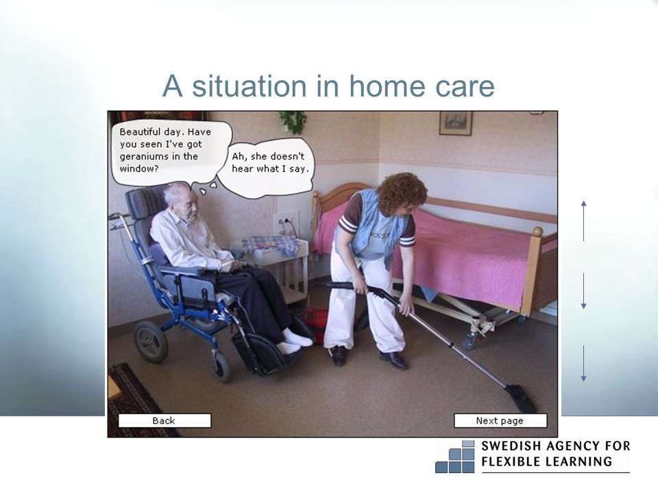 A situation in home care