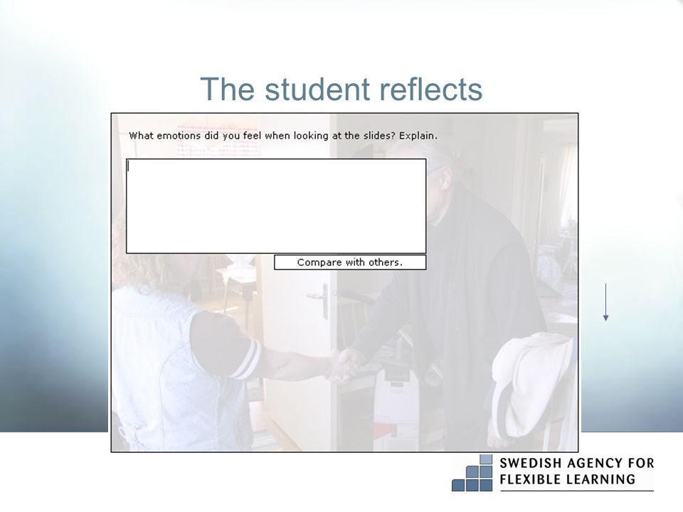 The student reflects