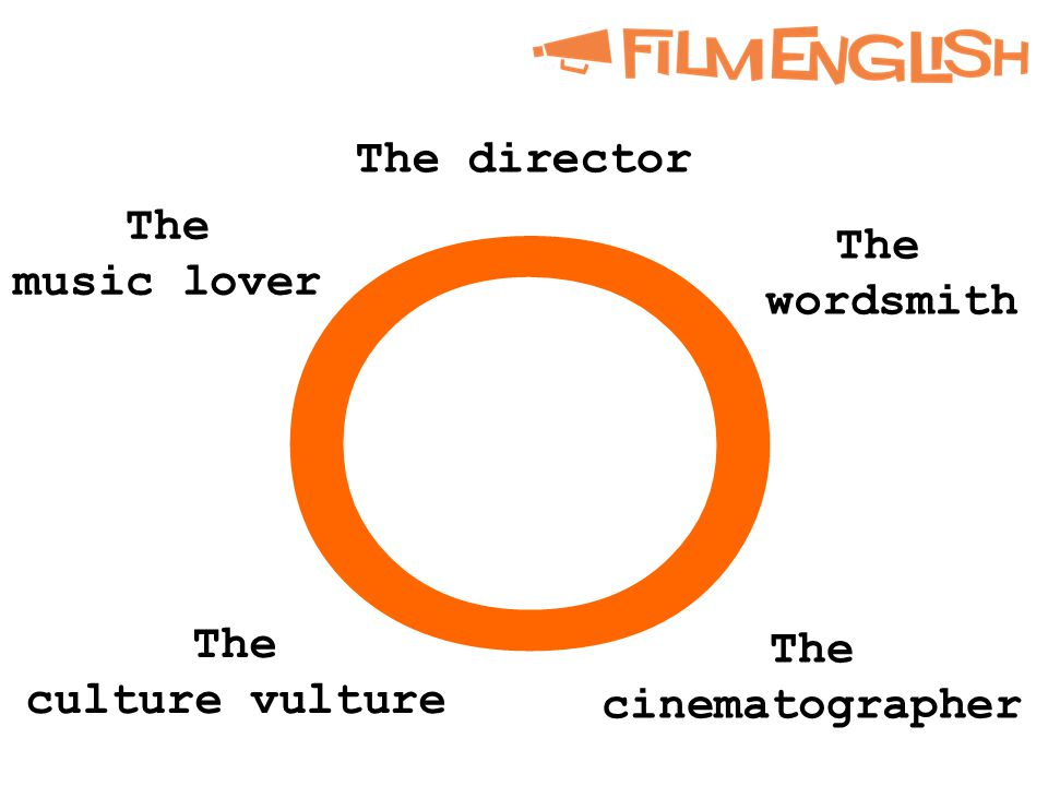 o The director The wordsmith The cinematographer The culture vulture The music lover
