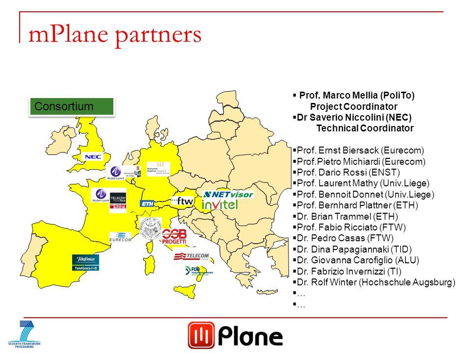 mPlane partners Consortium  Prof.