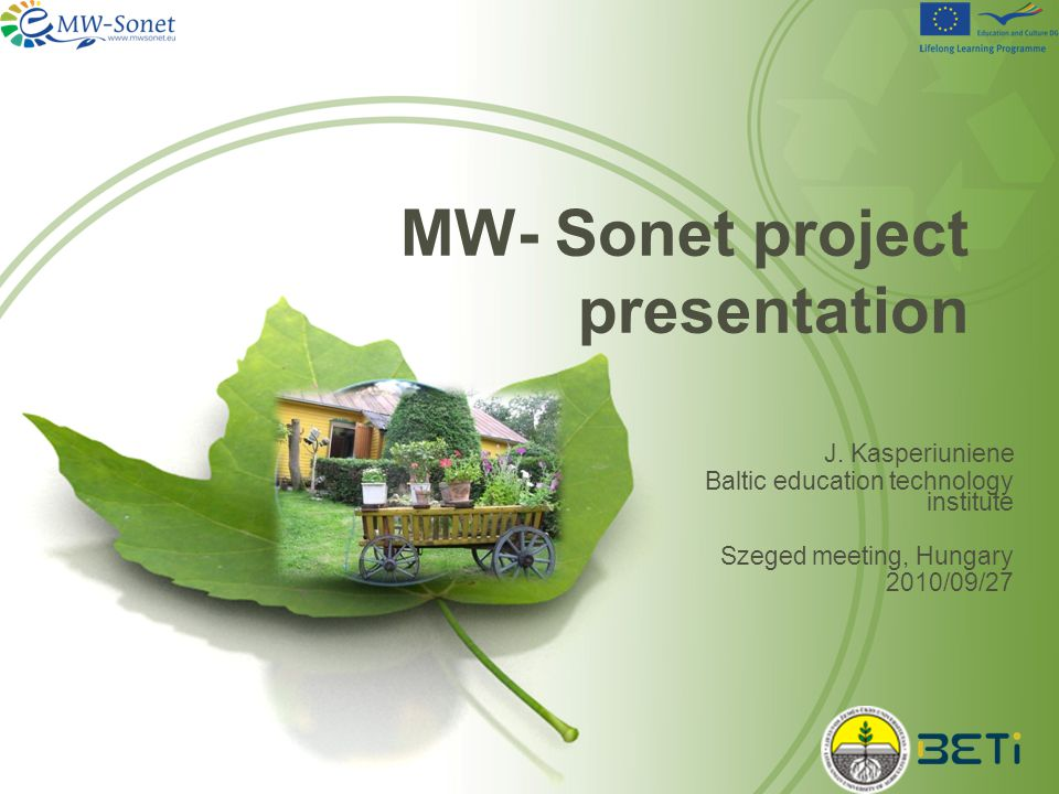 MW- Sonet project presentation J.