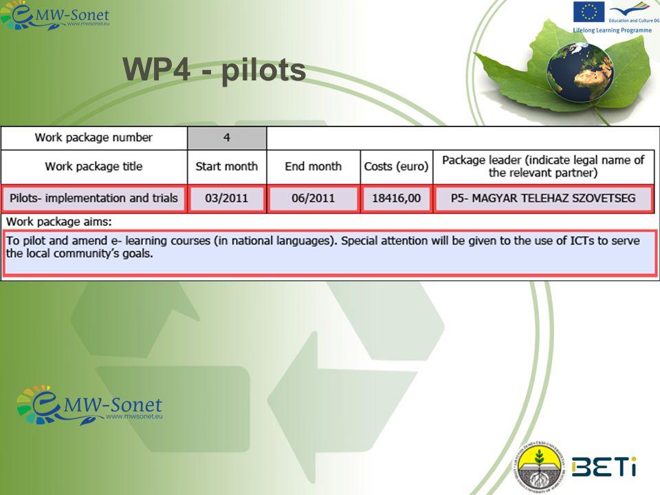WP4 - pilots