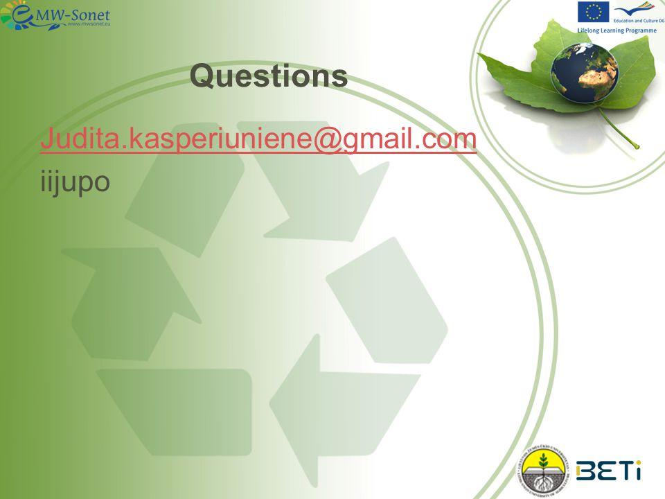 Questions Judita.kasperiuniene@gmail.com iijupo