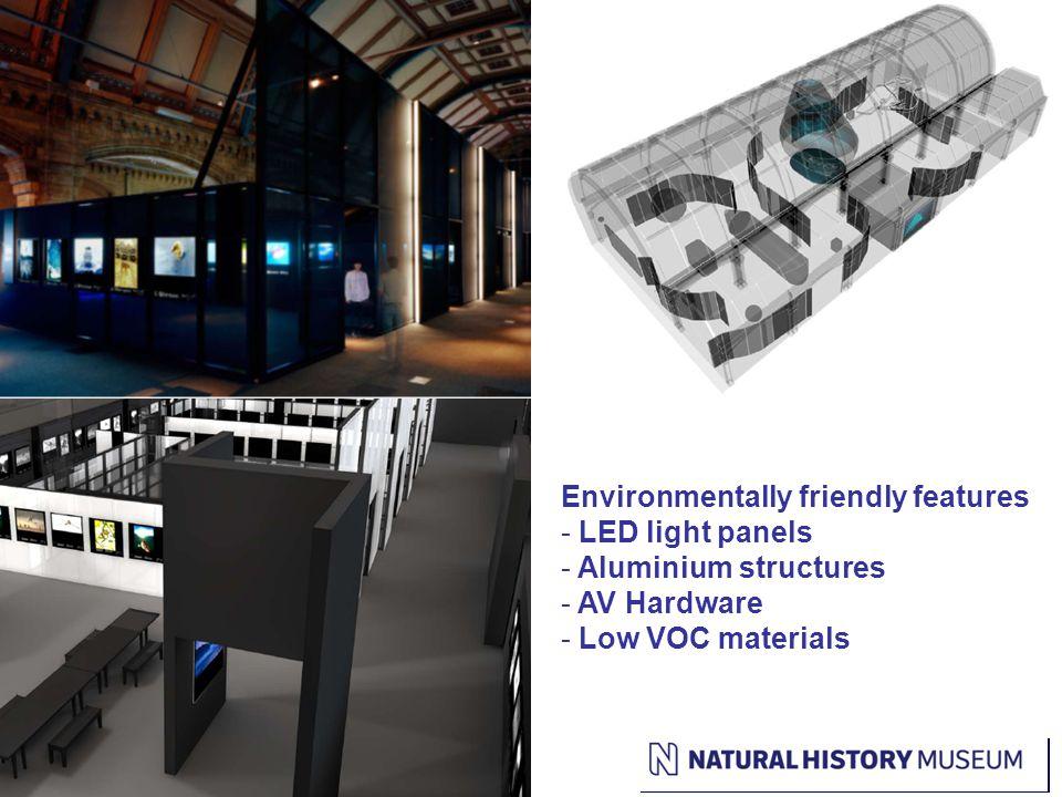 WPY Image Environmentally friendly features - LED light panels - Aluminium structures - AV Hardware - Low VOC materials