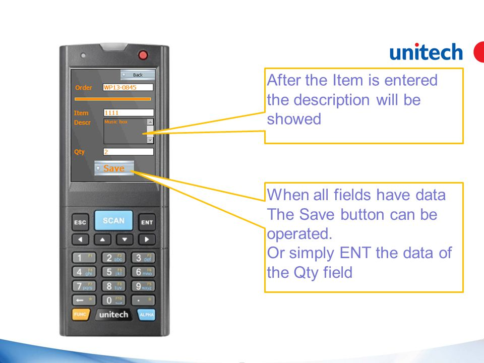 When all fields have data The Save button can be operated.