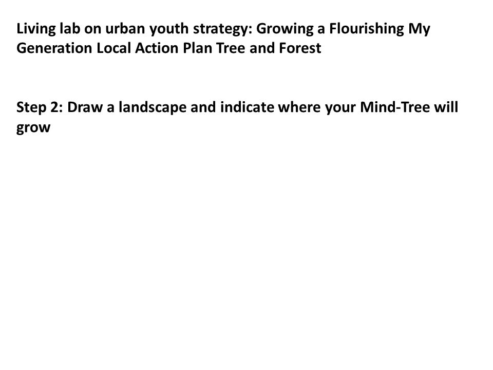 A Flourishing Youth Policy/ LAP/ Mind-Tree / Forest: Where does it grow.