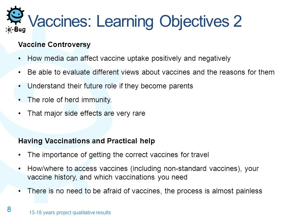 Vaccines: Learning Objectives 2 Vaccine Controversy How media can affect vaccine uptake positively and negatively Be able to evaluate different views about vaccines and the reasons for them Understand their future role if they become parents The role of herd immunity.
