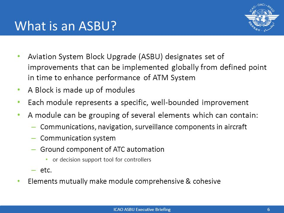 7 What is an ASBU.