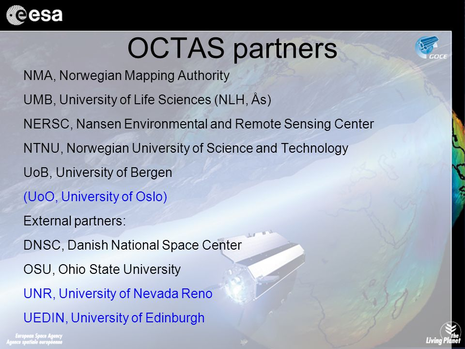 OCTAS and related research projects