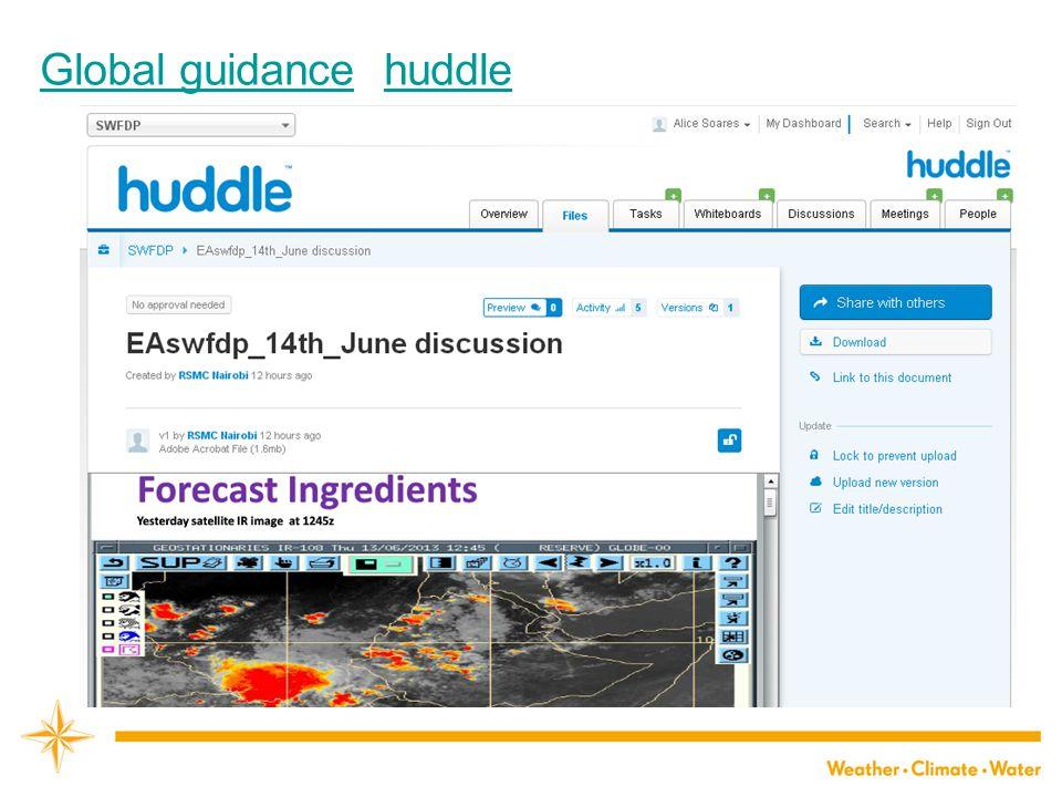 Global guidanceGlobal guidance huddlehuddle