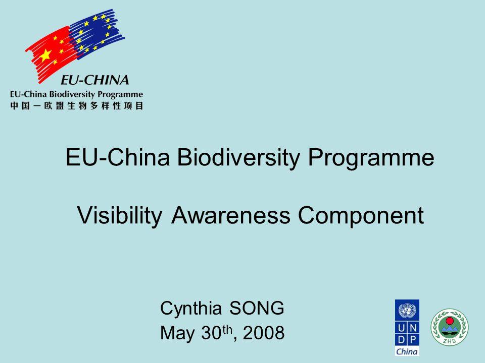 Cynthia SONG May 30 th, 2008 EU-China Biodiversity Programme Visibility Awareness Component