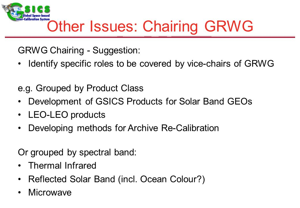 GRWG Chairing - Suggestion: Identify specific roles to be covered by vice-chairs of GRWG e.g.