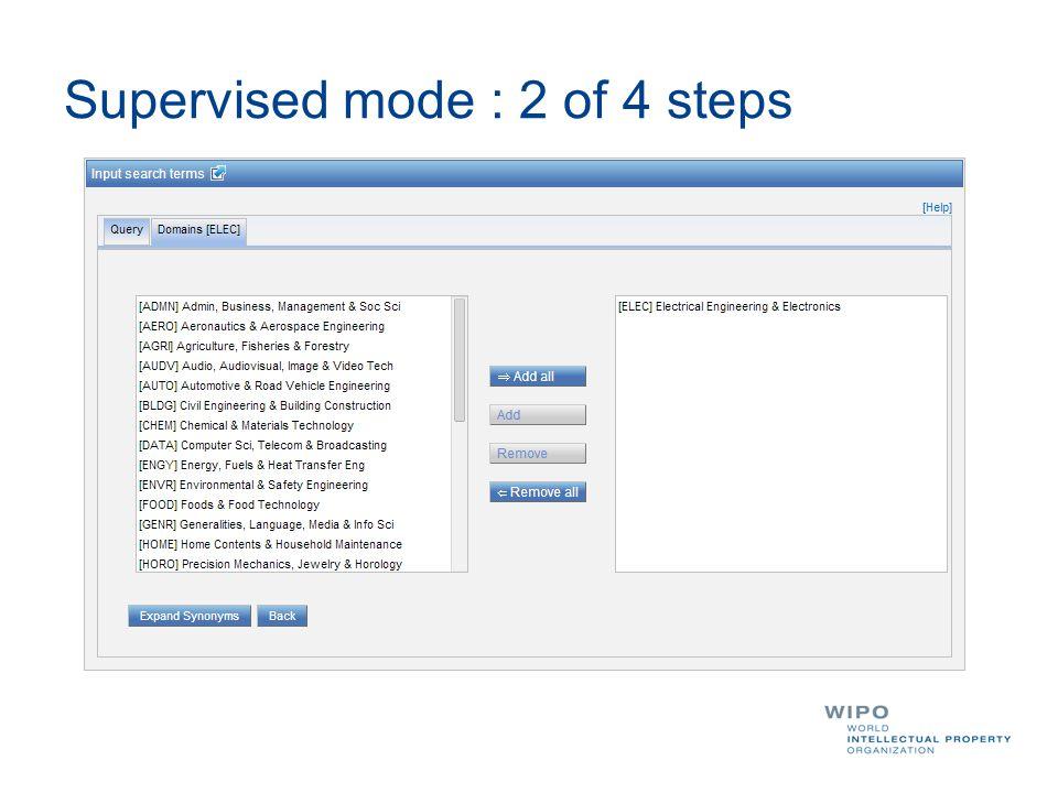 Supervised mode : 2 of 4 steps