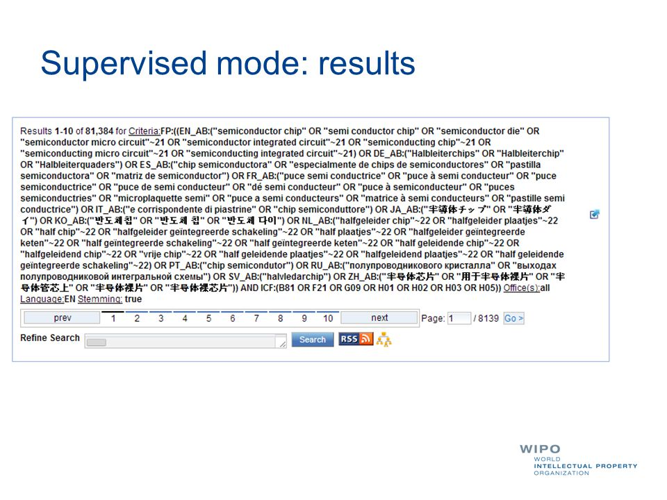 Supervised mode: results