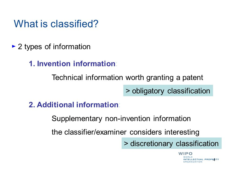 IPC search: Field combination