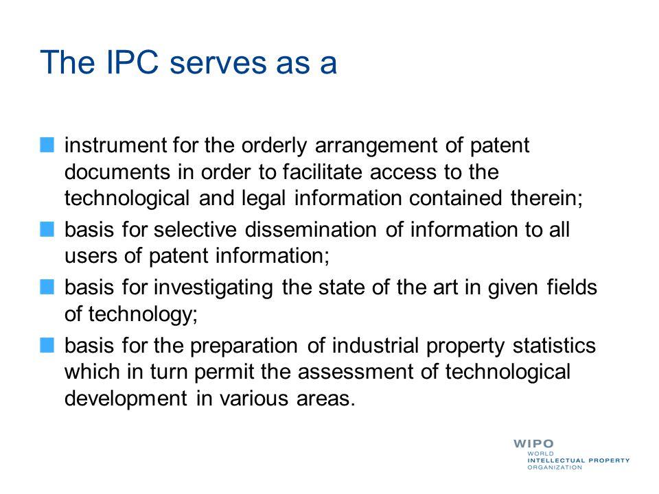 IPC search: Advanced search http://patentscope.wipo.int/search/en/help/fieldsHelp.jsf