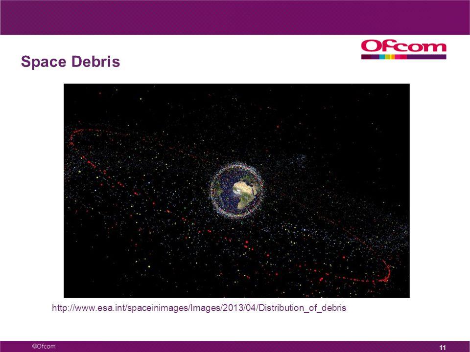 11 http://www.esa.int/spaceinimages/Images/2013/04/Distribution_of_debris Space Debris