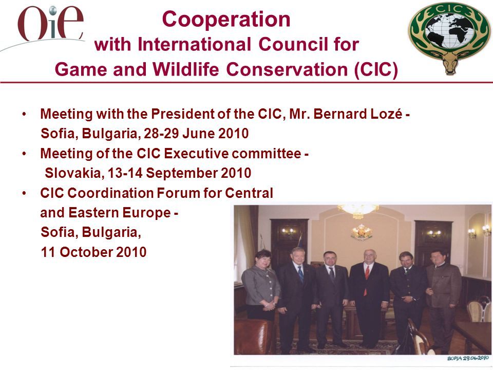Cooperation with International Council for Game and Wildlife Conservation (CIC) Meeting with the President of the CIC, Mr.