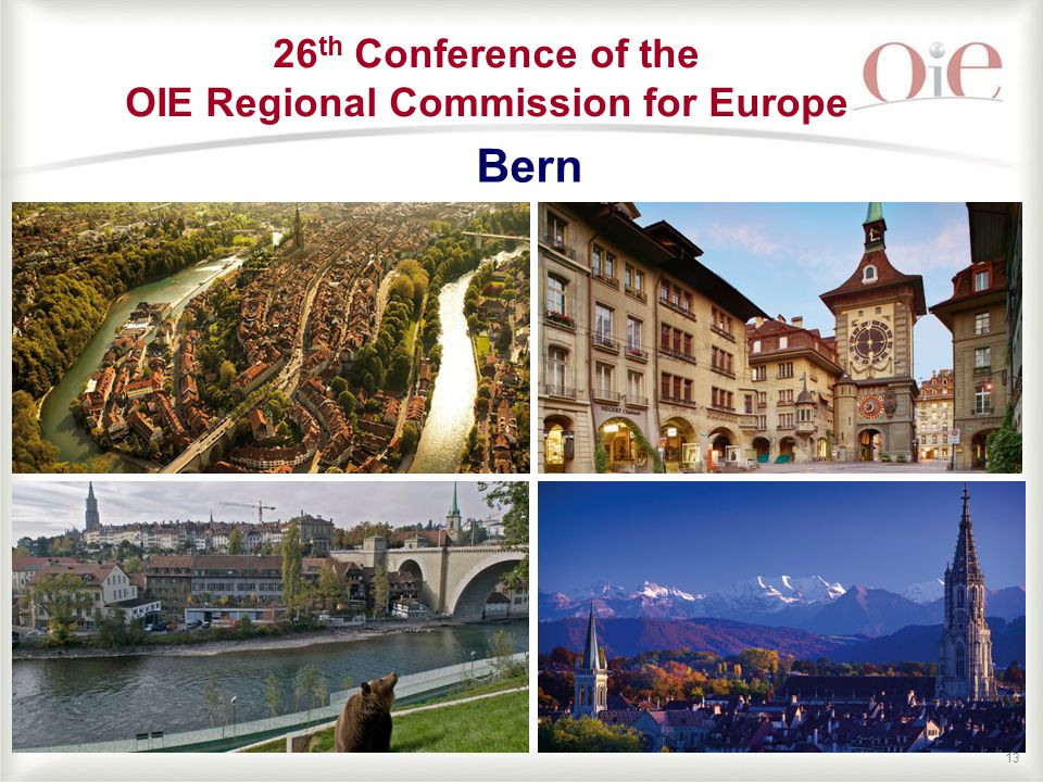 13 Bern 26 th Conference of the OIE Regional Commission for Europe