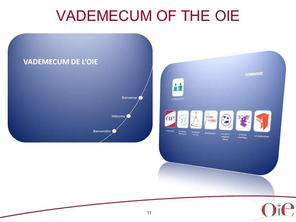 11 VADEMECUM OF THE OIE