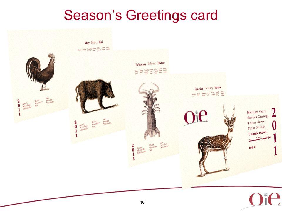 16 Season's Greetings card