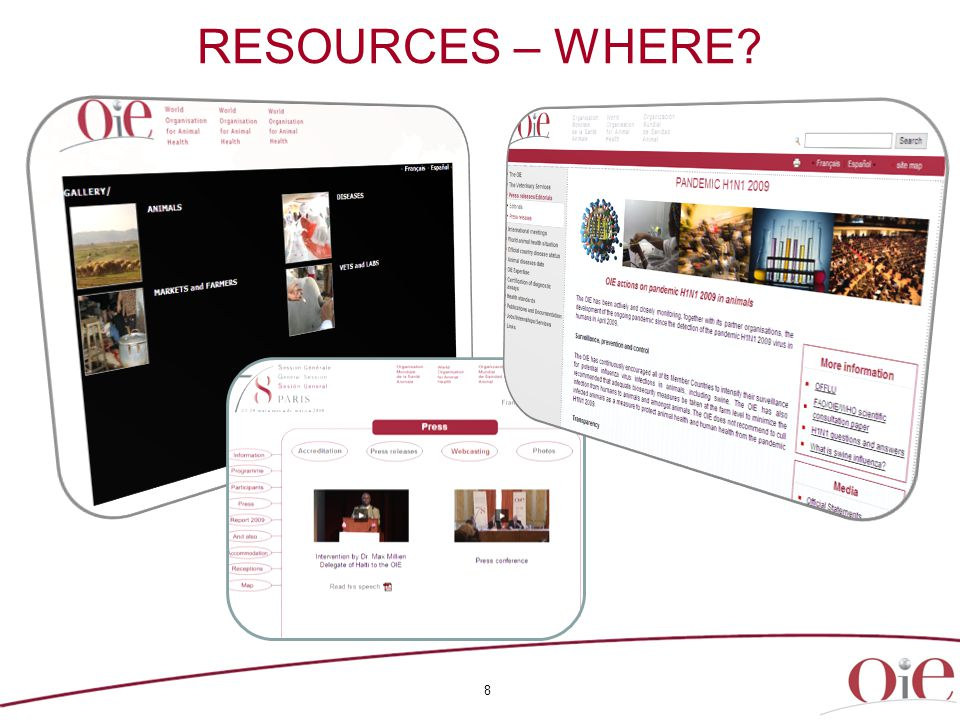 8 RESOURCES – WHERE