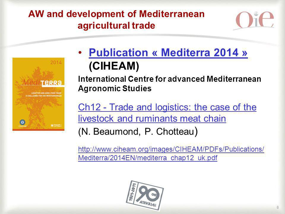 88 AW and development of Mediterranean agricultural trade Publication « Mediterra 2014 » (CIHEAM)Publication « Mediterra 2014 » International Centre f
