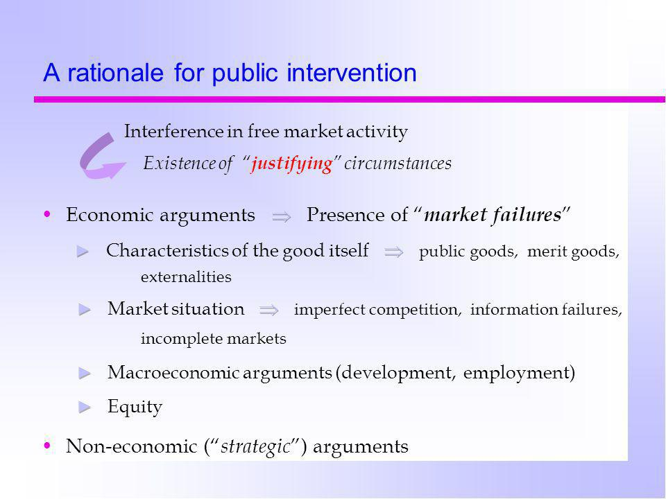 A rationale for public intervention