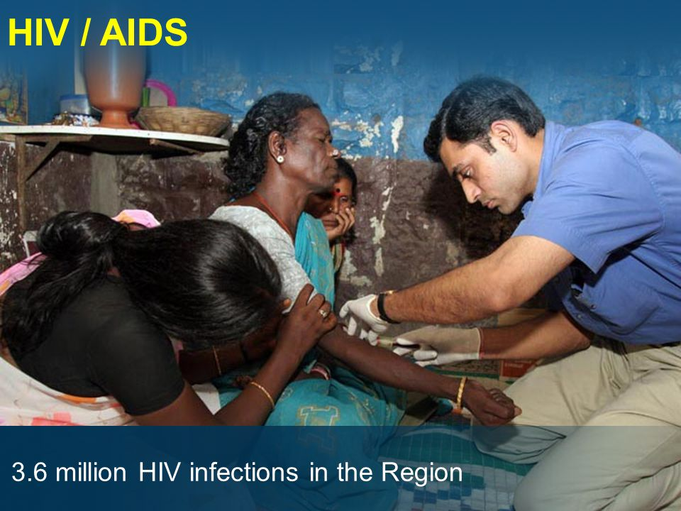 HIV / AIDS 3.6 million HIV infections in the Region