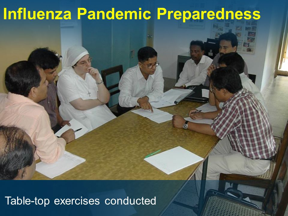 Influenza Pandemic Preparedness Table-top exercises conducted