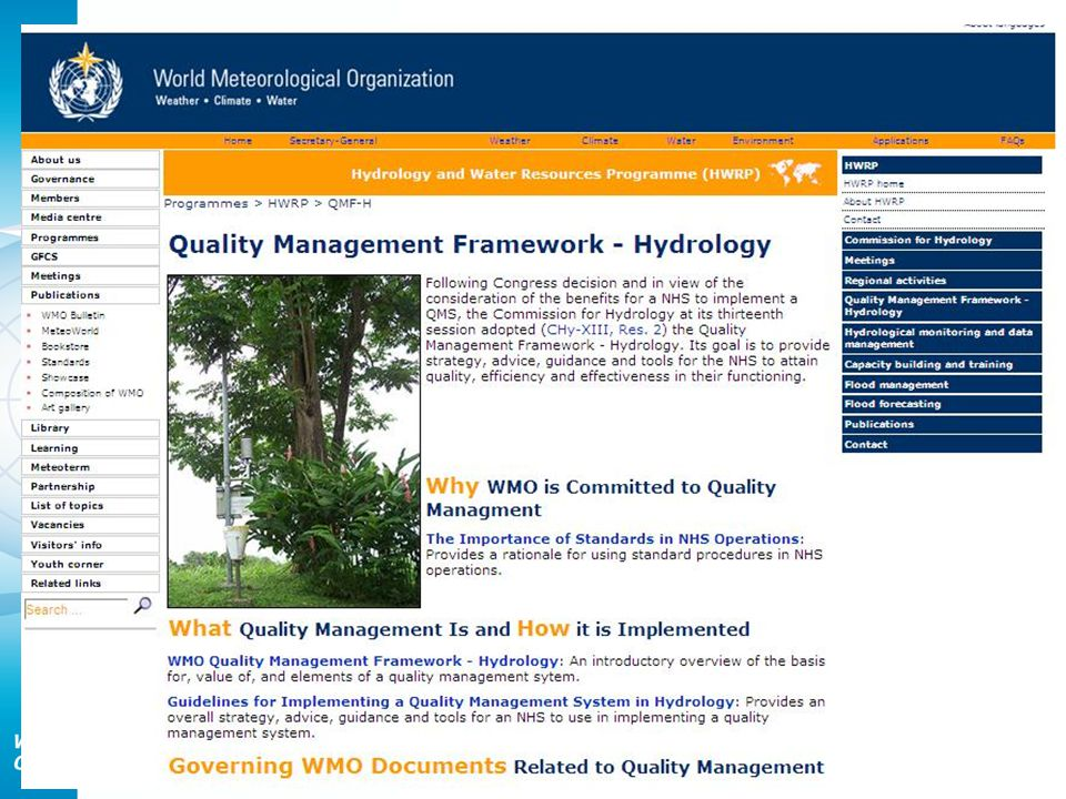 Uncertainty Analysis Continue implementing project to assess the performance of flow instruments and techniques Website launched Inclusion of a working website Detailed project work plan developed
