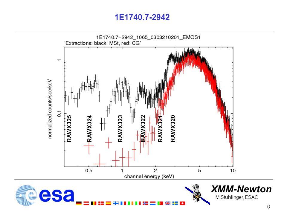 XMM-Newton 6 M.Stuhlinger, ESAC 1E1740.7-2942 RAWX320RAWX321RAWX323RAWX324RAWX325RAWX322